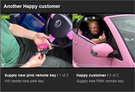 Pink remote key