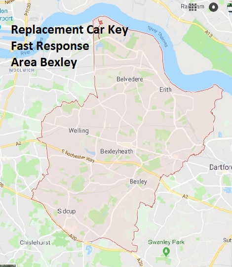 Car Key Replacement fast response bexley area map