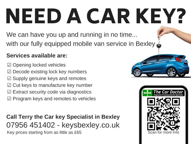Replacement Car Key Prices List in Bexley Kent DA5 - Keysbexley.co.uk